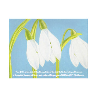 God Clothes Vegetation Field Scripture~SnowDrops Canvas Print