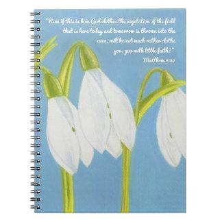 God Clothes Vegetation of Field scripture Notebook