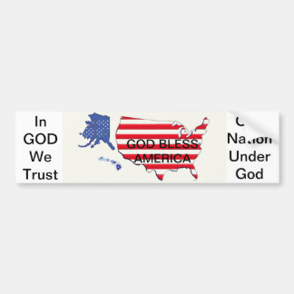 GOD & COUNTRY Bumper Sticker