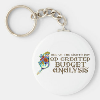 God Created Budget Analysis Key Chain