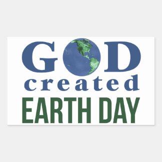God Created Earth Day Sticker