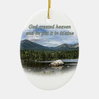 God created heaven ornament