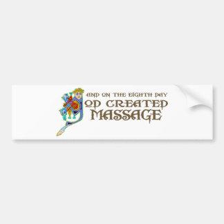God Created Massage Bumper Sticker
