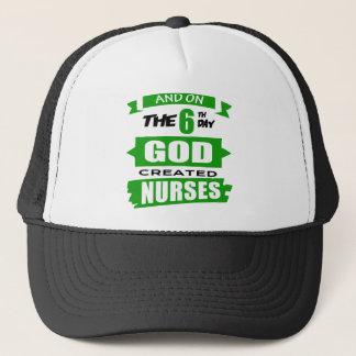 God Created Nurses Cap