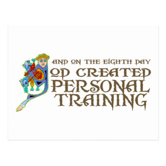 God Created Personal Training Post Card