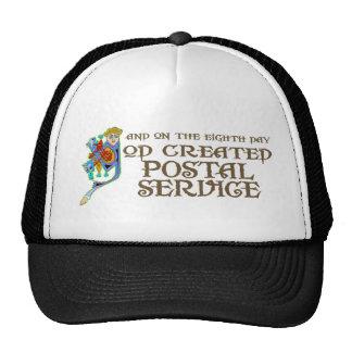 God Created Postal Service Mesh Hats