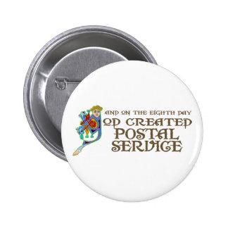God Created Postal Service Pins