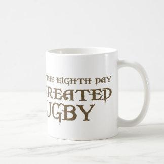 God Created Rugby Coffee Mug