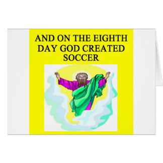 god created soccer card