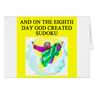 god created sudoku card