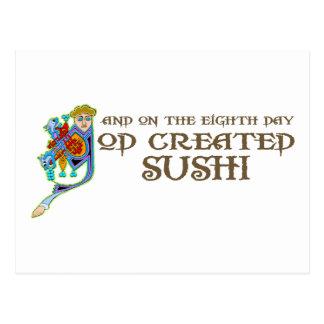 God Created Sushi Postcard