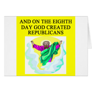 god creeated republicans card