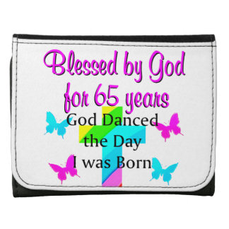 GOD DANCED THE DAY THIS 65TH BIRTHDAY DESIGN WALLET