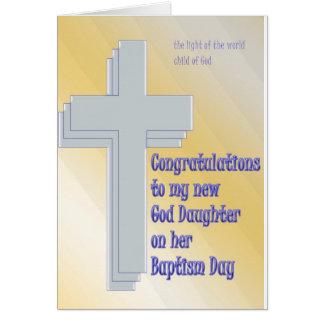 God Daughter Baptism Greeting Card