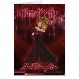 God Daughter Birthday card with Moonies cutie pie