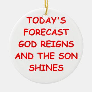 GOD CHRISTMAS ORNAMENTS