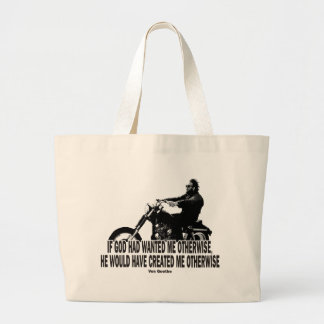 God Don't Hate Men Bikers Tote Bags