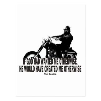 God Don't Hate Men Bikers Postcard