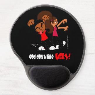 """""""God don't like UGLY!"""" Black Gel Mouse Pad"""