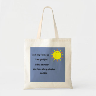 God erases my mistakes tote bag