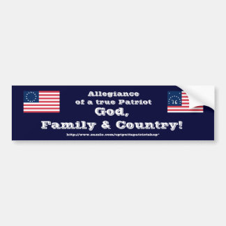 God, Family & Country! Bumper Sticker