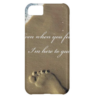 GOD footprint in Sand iPhone 5C Cover