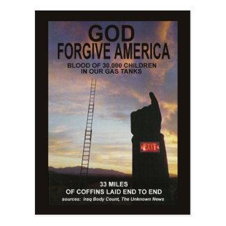 God Forgive America Postcard