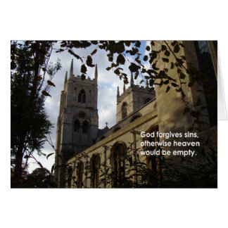 God forgives... card