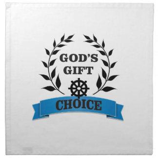 god gift choice simple art napkin
