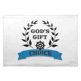 god gift choice simple art placemat