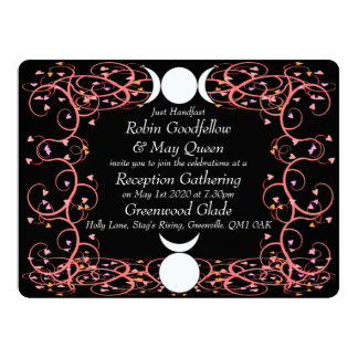 God & Goddess Wiccan Reception Invitation