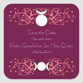 God & Goddess Wiccan Wedding Sticker Save the Date
