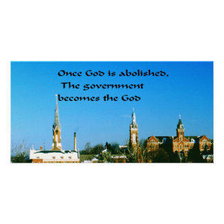 God,Government Custom Photo Card
