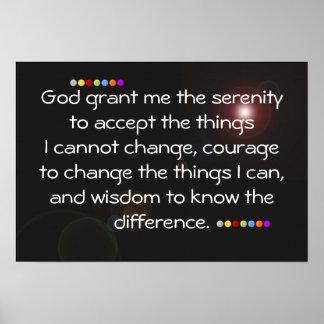 God grant me serenity poster