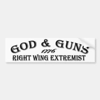 God & Guns 1776 Bumper Sticker