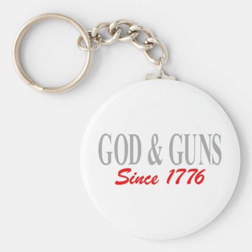 GOD & GUNS KEYCHAIN