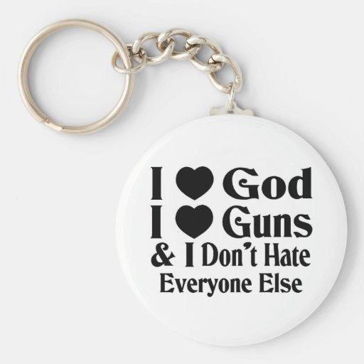 God & Guns Key Chain