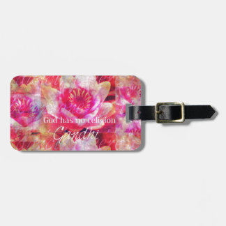 God has no religion - Gandhi quote Luggage Tag