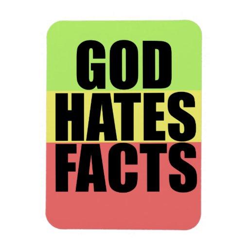 God Hates Facts Rectangular Magnet