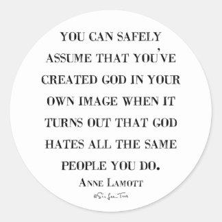 God Hates Like You Classic Round Sticker
