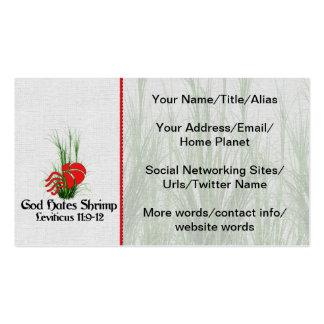 God Hates Shrimp Business Cards