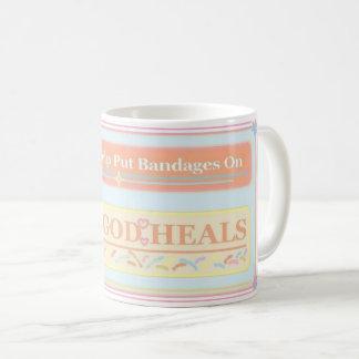 God Heals Quote Coffee Mug
