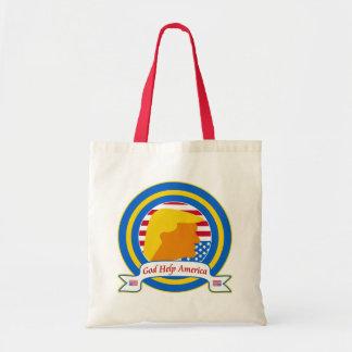 God Help America Resist Anti Trump Funny Tote Bag