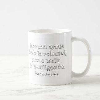 God helps us coffee mug