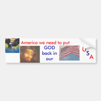 GOD in USA Bumper Sticker