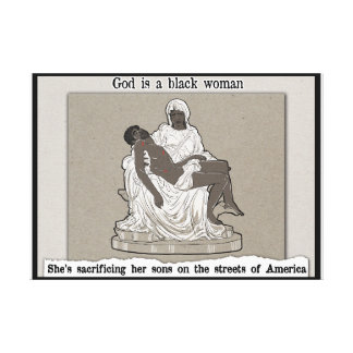 God is a black woman canvas print
