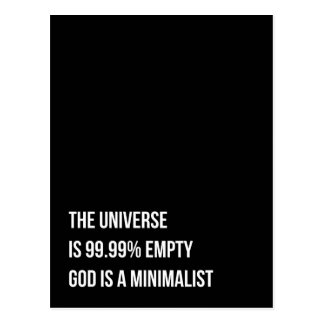 God is a Minimalist Postcard