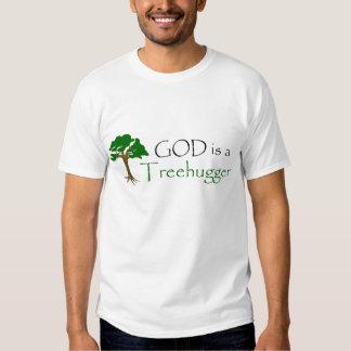 God is a treehugger tee shirt