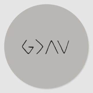 God is Greater Than the Ups & Downs Sticker