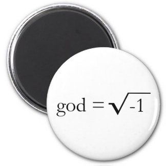 God is Imaginary 6 Cm Round Magnet